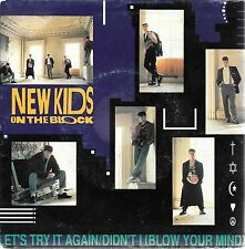"""45 TOURS / 7"""" SINGLE--NEW KIDS ON THE BLOCK--LET'S TRY IT AGAIN--1990"""