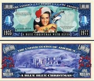 ELVIS-PRESLEY-MILLION-DOLLAR-NOVELTY-BILL-BLUE-CHRISTMAS-WITH-ELVIS