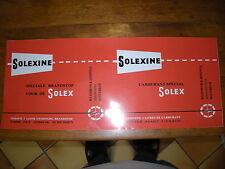 SOLEX  AUTOCOLLANT  POUR BIDON SOLEXINE rouge orangé