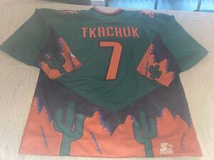 Nwt Keith Tkachuk Starter Phoenix Coyotes NHL Alternate Green Jersey Iguana New