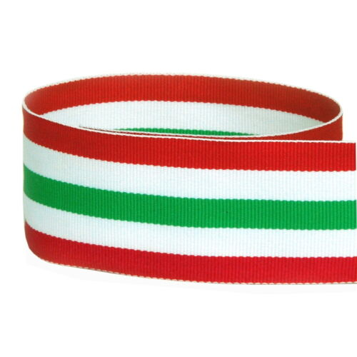 "White /& Emerald Holiday Woven Grosgrain Ribbon 5 yards 1.5/"" Red"