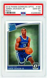 JAREN-JACKSON-JR-2018-Panini-Donruss-Optic-18-HOLO-Silver-PSA-10-ROOKIE-Card-RC
