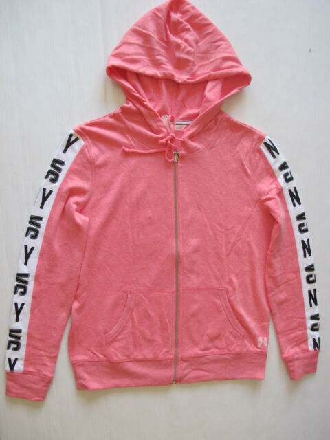 c76681c329e8 Victoria s Secret VS NY Logo Full Zip Hoodie Coral Pink Small for ...