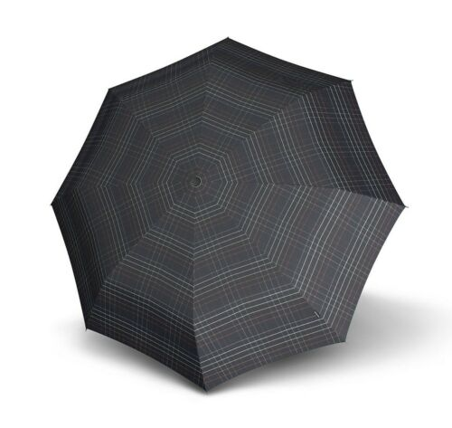 Knirps Classic Line Topmatic SL Regenschirm Taschenschirm Black Check Schwarz