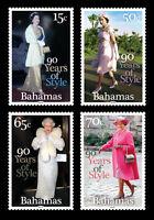 Bahamas 2016 Queens 90th Birthday 4v set MNH
