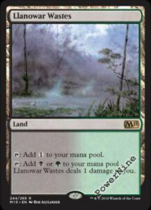 4-Llanowar-Wastes-Land-m15-Magic-2015-Mtg-Magic-Rare-4x-x4