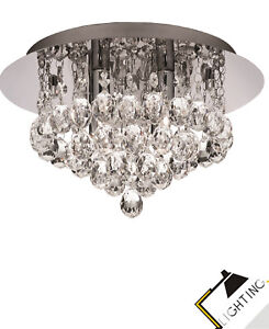 Plafonnier-Lumiere-de-Salle-Bain-Lampe-Chrome-a-4-Cristal-35cm-Incl-led