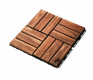 Pavimento piastrelle da esterno in legno quadrotti piscine acacia 31cm x 31cm ebay - Piscine da esterno in legno ...