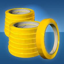 12 mm PP-Klebeband, gelb f. Beutelschliesser, Klebefilm,Selbsklebeband,12 Rollen