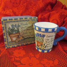 Gift Mug Cup Boxed Set Sentimental Friend Verse Friends Like Flowers