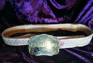Vintage Tequila Holster Belt Gift for Him 100/% Agabe Tequila Mexico Black Leater Belt Nuestro Tiquela