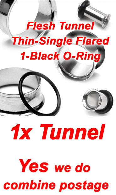 NEW 316L Surgical Steel, 4 Types Ear Flesh Plug Tunnel Taper up to 38mm