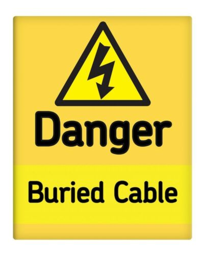 """Danger Buried Cable 8x10/"""" Metal Sign Safety Office site Business Plant #175"""