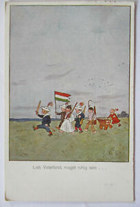 Children-Ww-1-Flag-From-Ungarn-Love-Homeland-Get-Quiet-Sein-43144