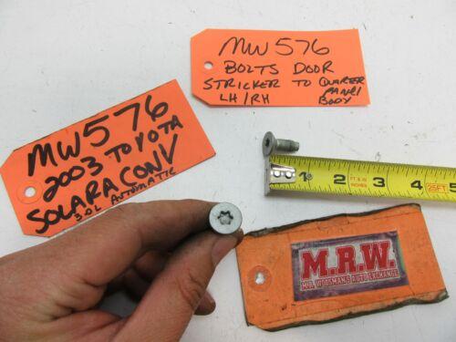 BOLT BOLTS DOOR PANEL STRIKER FOR DOOR LATCH LEFT LH RIGHT RH CAR QUARTER PANEL