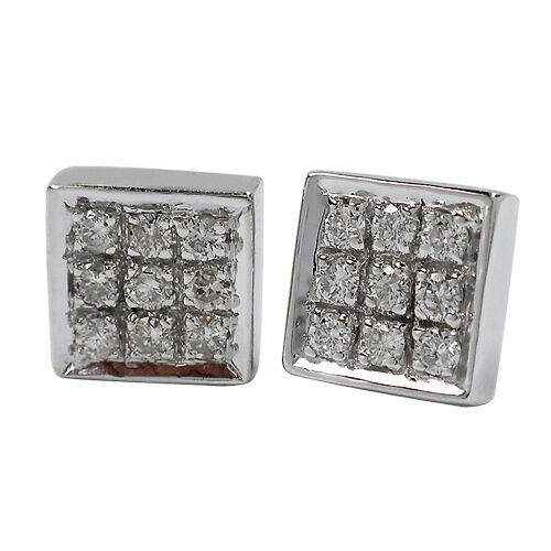 06aa12a68487 3357-14K gold DIAMOND EARRINGS 0.20CTS 1.75GR CLUSTER WHITE  ouejmy489-Diamond