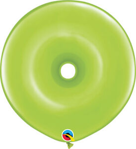 DONUT-BALLOONS-LIME-GREEN-25ct-QUALATEX-16-034-GEO-DONUT-MODELLING-BALLOONS