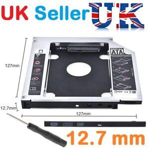 SATA-2nd-HDD-SSD-Hard-Drive-Caddy-for-12-7mm-Universal-CD-DVD-ROM-Optical-Bay