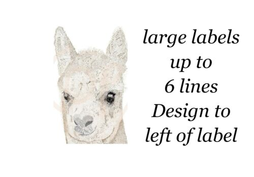 Alpaca Small or Large Sticky White Paper Stickers Labels NEW