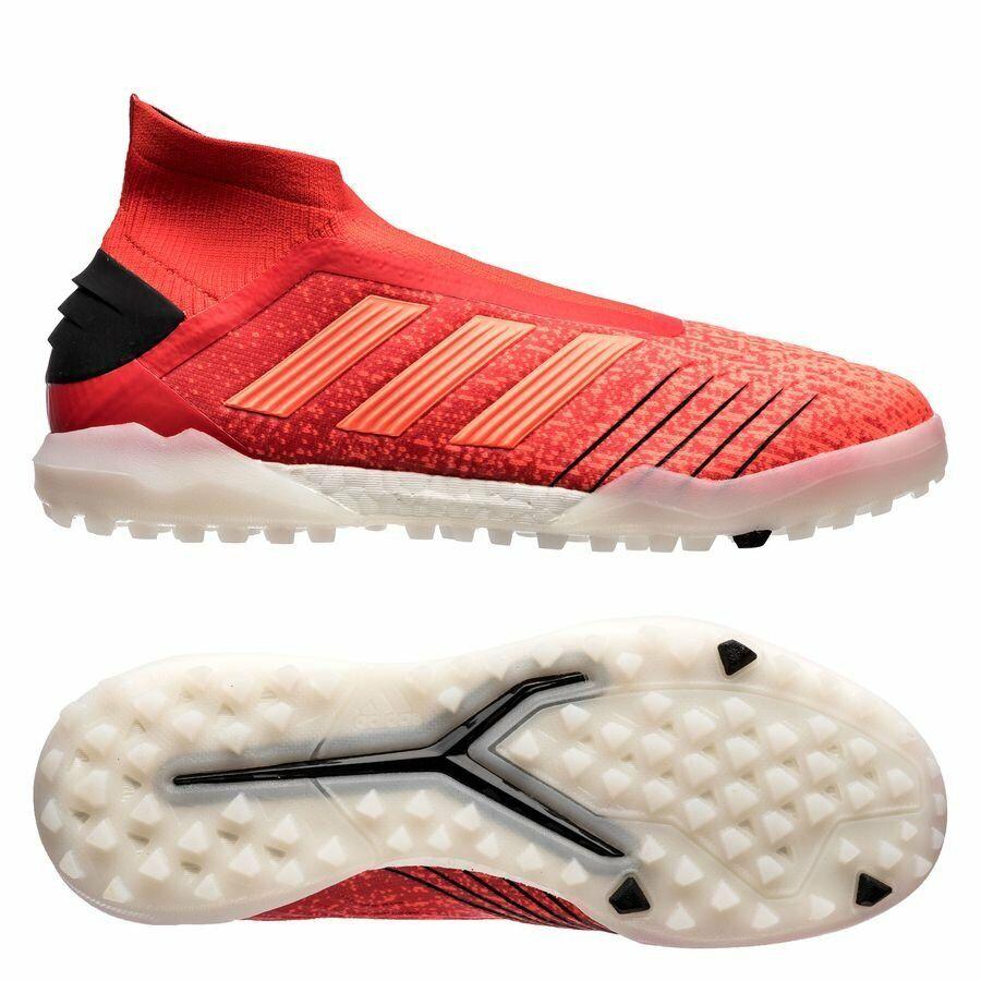 Nuovo Adidas Prossoator  19 TF Turf Soccer scarpe Boost ControlSkin rosso -nero -bianca X  seleziona tra le nuove marche come