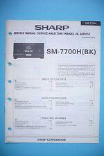 Service-manual-instrucciones para Sharp sm-7700h, original