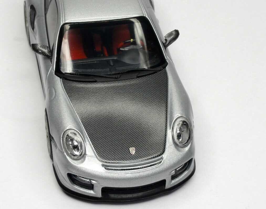 Rare PORSCHE PORSCHE PORSCHE 911 997 GT2 RS 2010 Carbono Plata 1 43 Minichamps (Distribuidor Modelo) 2349d2