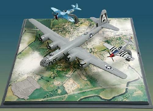 Corgi Aviation 49506 - USAAF Confederate Air Force 3 plane set; B-29, P-47, P-51