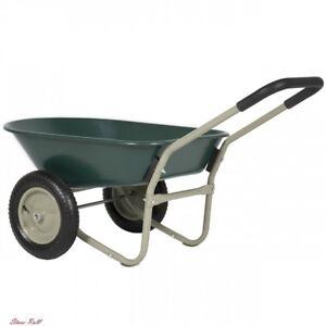 Image Is Loading 2 Wheel Wheelbarrows Steel Cart Outdoor Garden Accessories