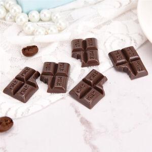 10x-DIY-Resin-Chocolate-Flatback-Jewelry-DIY-Charm-Loose-Spacer-Bead-Finding-Dc
