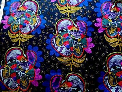 FreeSpirit Tambourine Bird Watching Lamplight Cotton Clothing Quilting Fabric