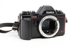 Vintage 80s Konica TC-X 35mm SLR w50mm f1.8 Lens 2x Teleconverter /& Leather Case