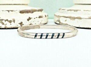 Mexico-Sterling-Silver-925-Malachite-Hinged-Oval-Oblong-28-Gr-Bangle-Bracelet