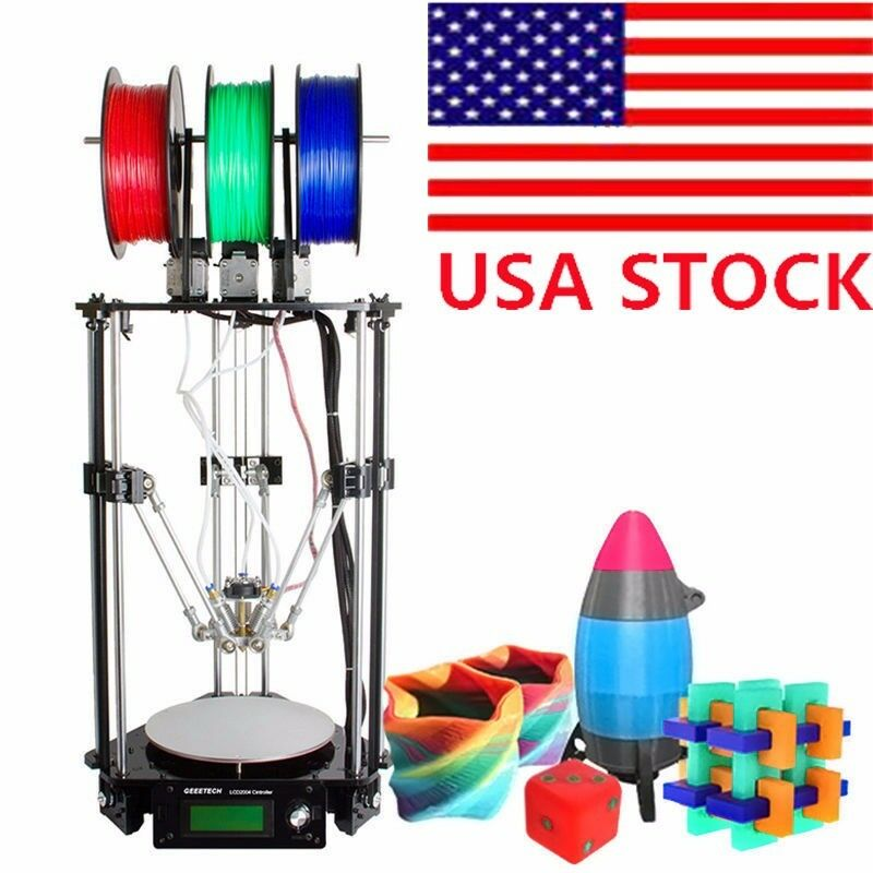 Geeetech Delta Rostock 301 Pro 3D Printer DIY 3-in-1-out Triple-color Extruder Y