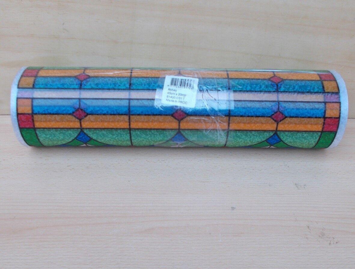 20 m x x x 45 cm Abbey Fensterfolie bunt statische Folie Kirchenfenster Vintage Look | New Products  cf2e66