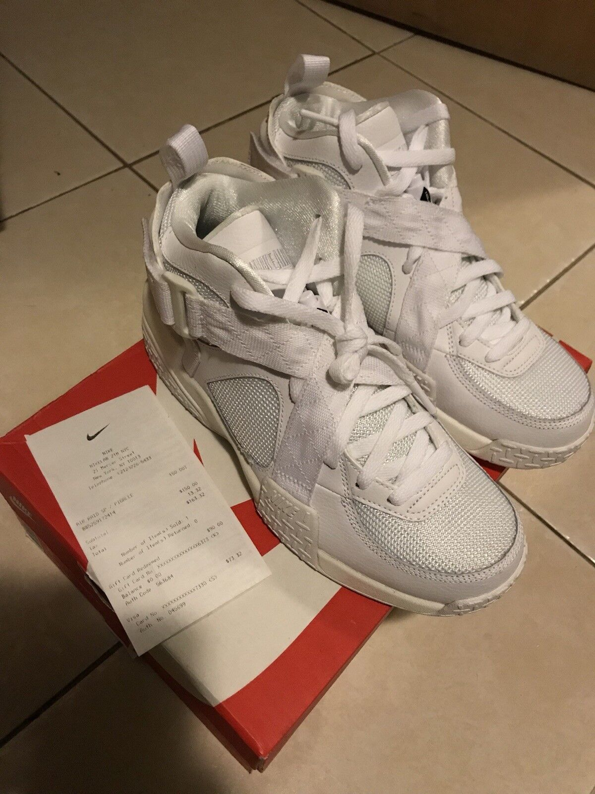 Nike Air Raid SP  PIGALLE   - 729371-500 - NIKELAB White - Men's Size 8 RARE