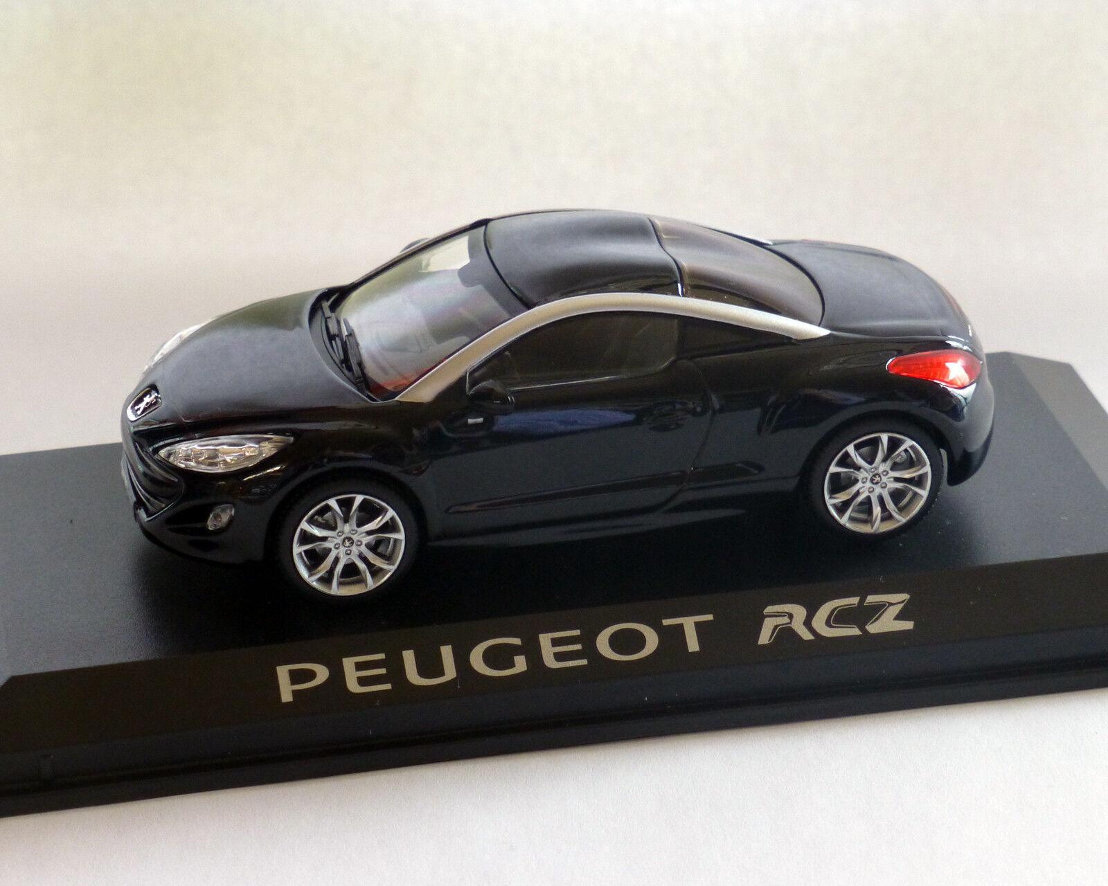 Peugeot RCZ schwarz, 1 43,  NOREV  | Tadellos