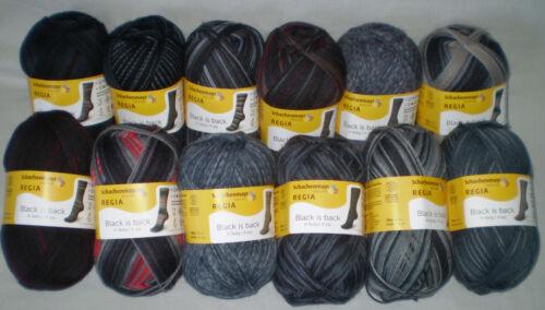 5,90€// 100 Gr Regia Black Is Back Calcetines de Lana 4-fach//4-fädig Patronaje