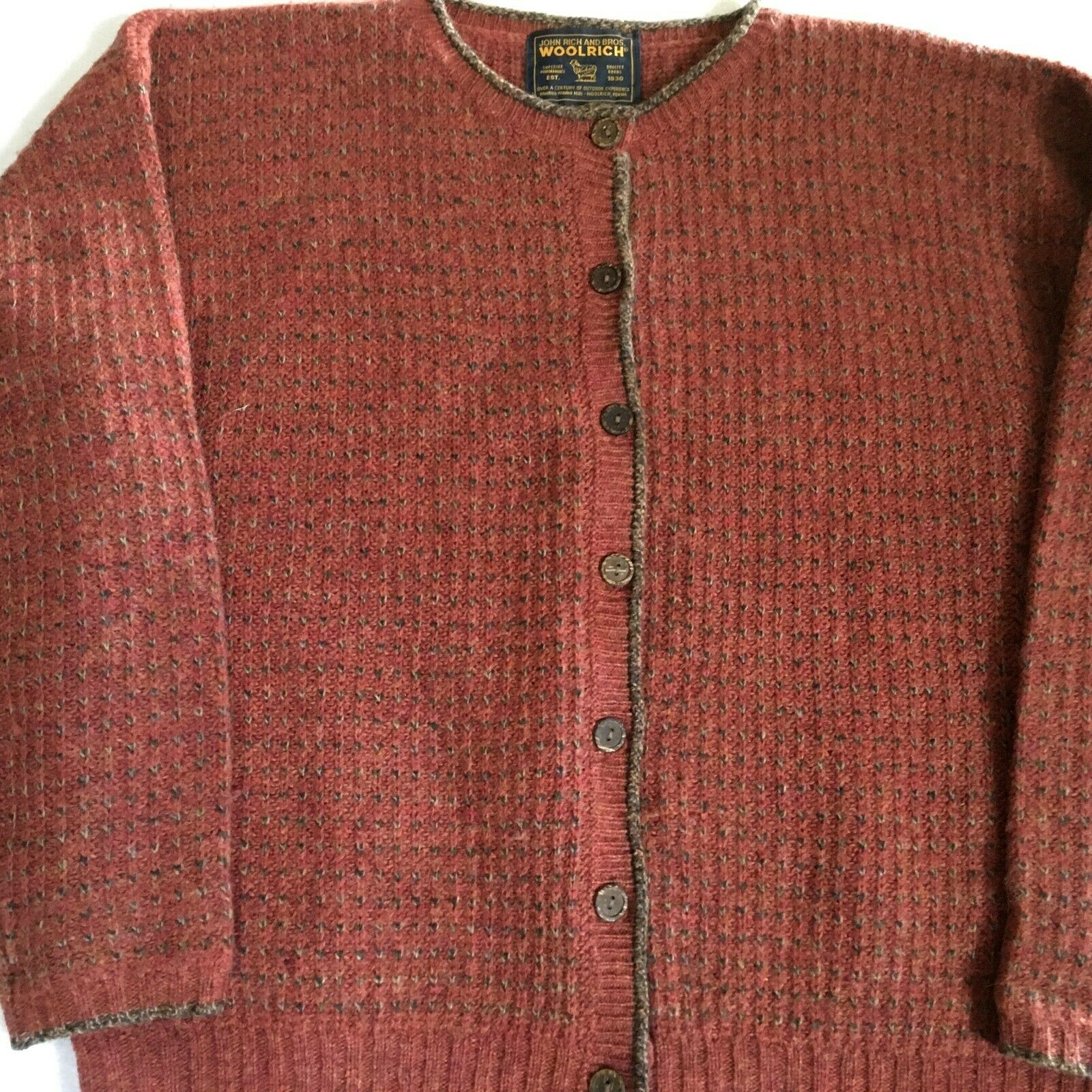 Woolrich John Rich Bros Sweater Wool Cardigan Nor… - image 1