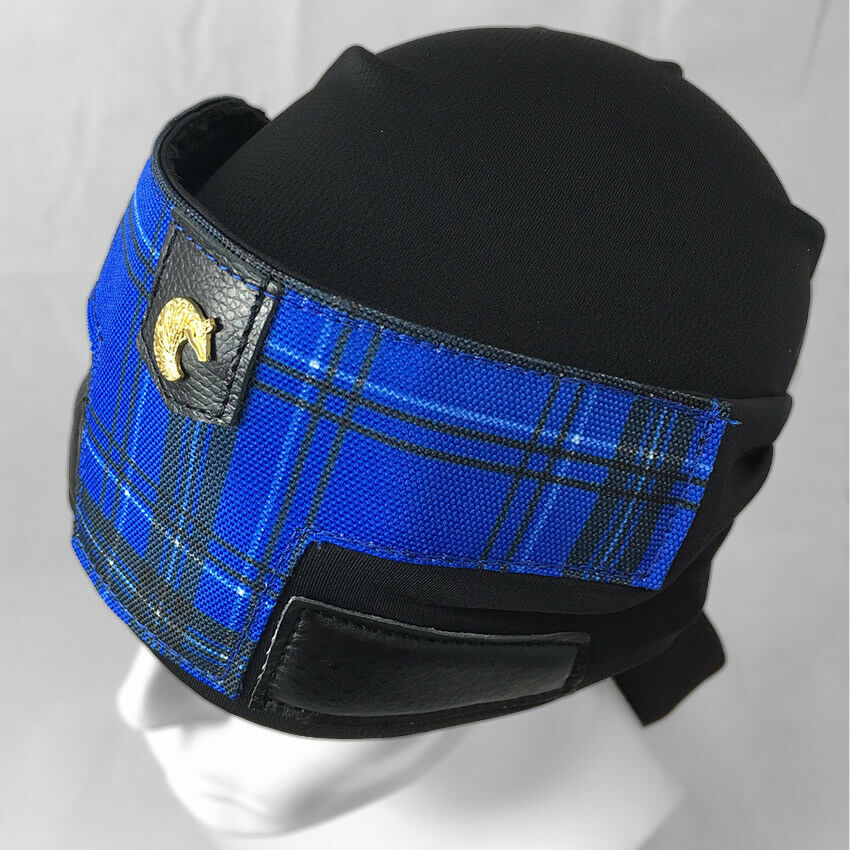 Armagillo Dreadwrap   Headwrap - Plaid bluee - Paintball