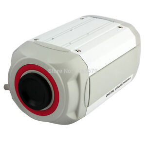 CCD-663-Security-License-Plate-Recognition-Box-Camera-700TVL-With-Lens-White-New