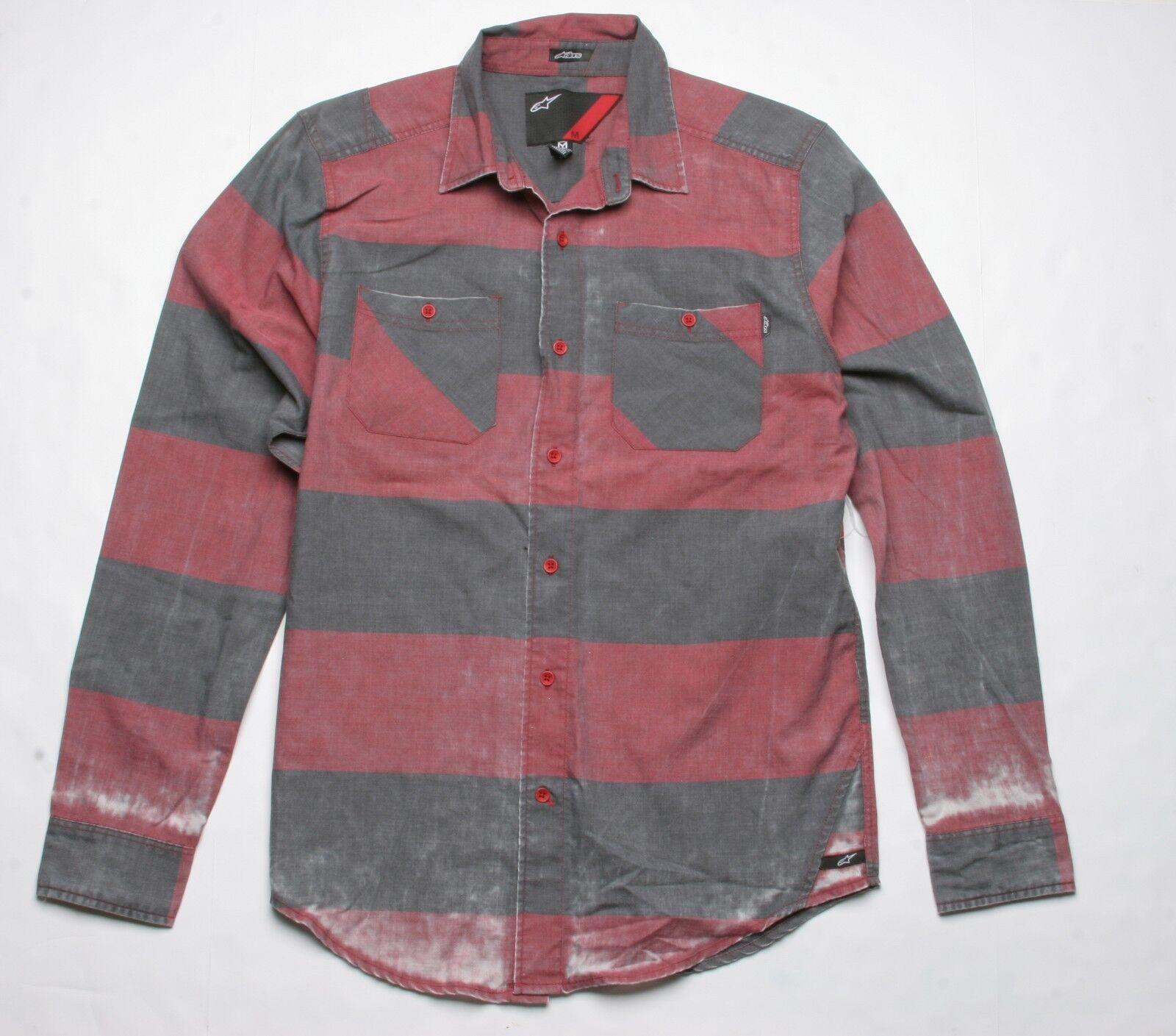 Alpinestars Freddie Long Sleeve Shirt (M) Dark Red