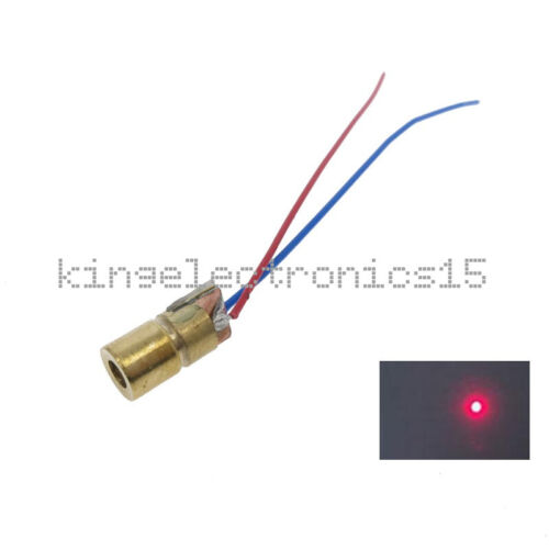 10PCS 650nm 5mW Laser Red Dot Module red laser sight laser diode laser pointer