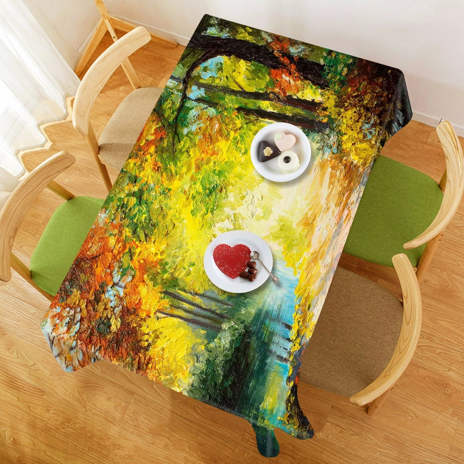 3D Oil Painting 6 Tablecloth Table Cover Cloth Birthday Party Event AJ WALLPAPER