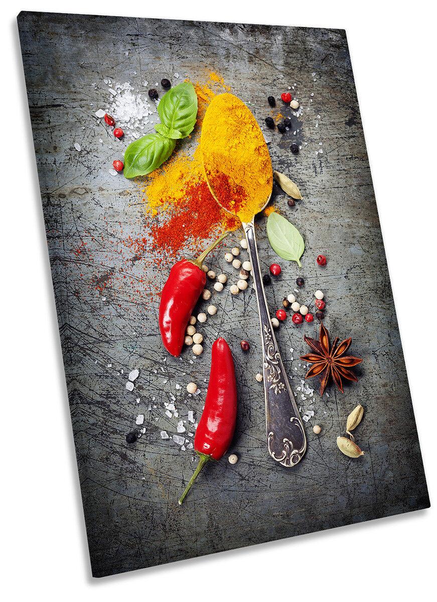 Erbe spezie cucina peperoncino art. a muro foto ritratto stampa stampa stampa de8b70