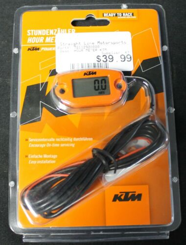 2003-2017 KTM PowerParts HOUR HR METER 78112920000 ORANGE SEE DESC FOR FIT