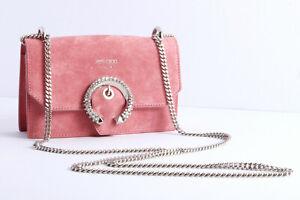 JIMMY-CHOO-039-Paris-039-mini-cross-body-bag-in-candyfloss-pink-suede-crystal-detail