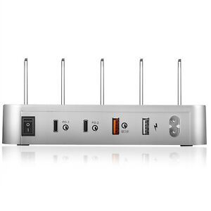 60W-4-Ports-USB-Charger-Station-Quick-Charge-QC3-0-amp-Type-C-Power-Delivery-PD