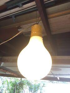 Image Is Loading Vintage Mid Century Pop Art Giant Hanging Lightbulb