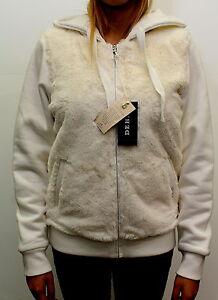 Giacca-da-donna-bianca-orsetto-Deha-con-cappuccio-cotone-casual-moda-pelliccia
