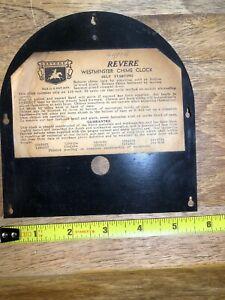 Antique-Revere-Mantle-Clock-Metal-Door-K1154